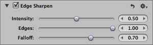 Edge Sharpen - panel