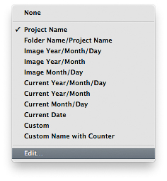 Editace cesty souborů