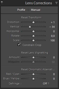 Lens Corrections / Manual