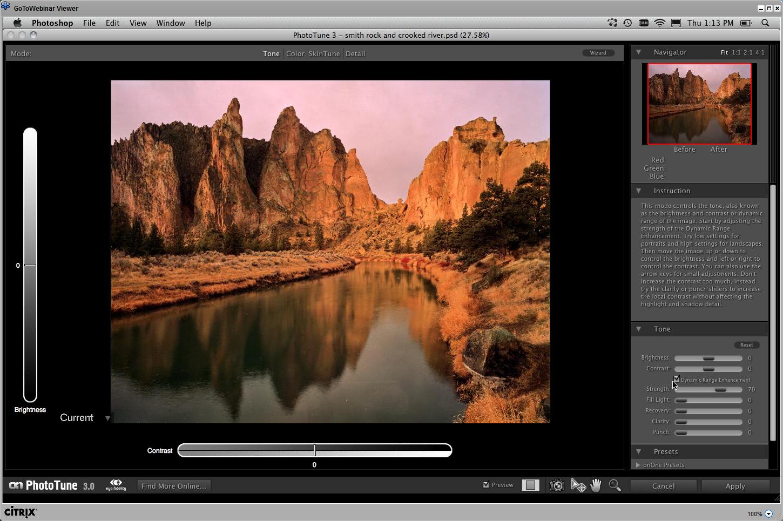 Webinář Landscape, počáteční úpravy