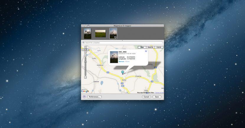 Maperture – špendlík do mapy